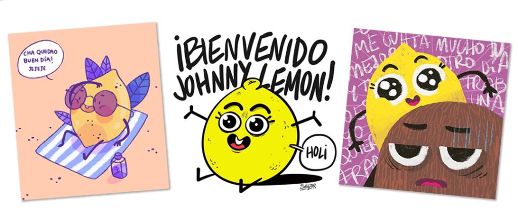 diferentes diseños de johnny lemon que podrían entrar en el sorteo de una taza exclusiva